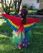 Red Parrot Homemade Costume
