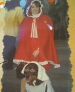 Red Riding Hood, and the Wolf dressed as Grandma Homemade Costume