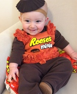 Cute baby costume ideas: Reese's Peanut Butter Cups Homemade Costume