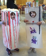 Refrigerator and Popcorn Homemade Costumes