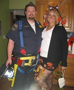 Rescued Cat & Firefighter Couple Costume