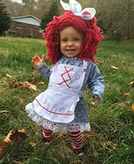 Revamped Raggedy Ann Baby Homemade Costume
