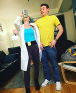 Rick and Morty Homemade Costume