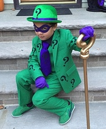 Riddler Boy Homemade Costume