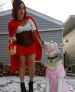 Riding Hood & The Big Bad Wolf Homemade Costume