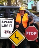Family costume ideas - Road Signs