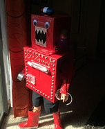 Red Robot Homemade Costume