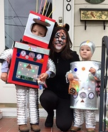 Robot Boys and Tiger Mom Homemade Costume