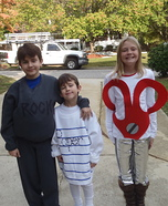 Rock, Paper, Scissors costume for kids