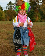 DIY Rodeo Clown Baby Costume