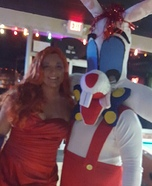 Roger and Jessica Rabbit Homemade Costume