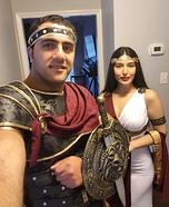 Roman Couple Homemade Costume