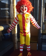 Ronald McDonald Homemade Costume