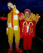 Ronald McDonald and French Fries Homemade Costume