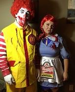 Ronald McDonald & Wendy Homemade Costume