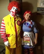 Ronald McDonald & Wendy Homemade Costume