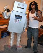 Homemade Ronnie the Robot Costume