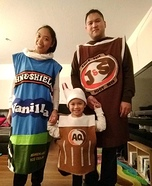 Root Beer Float Family Homemade Costume