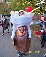 Homemade Rootbeer Float Costume