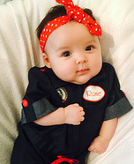 Rosie the Riveter Baby Homemade Costume
