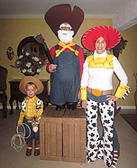 Family costume ideas - Woody's Roundup Gang from Toy Story 2