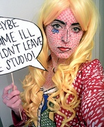 Roy Lichtenstein Pop Art Girl Homemade Costume