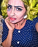 Roy Lichtenstein Pop Art Comic Book Queen Halloween Costume