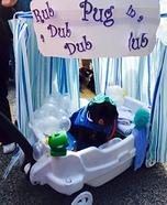Rub-a-dub-dub Pug in a Tub Homemade Costume