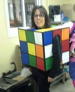 Rubik's Cube Homemade Costume