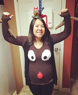 Rudolph the Red-Nosed Reindeer Homemade Costume