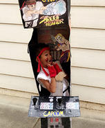 Ryu Street Fighter Arcade Machine Homemade Costume