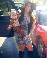 Safari Girl & Baby Monkey Homemade Costume