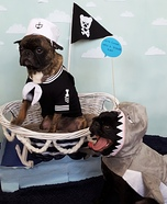 Sailor and Shark Dogs Costume