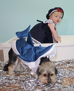 Sailor Baby and the Shark Dogs Homemade Costume