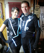 Tron Sam Flynn and Quorra Halloween Costume