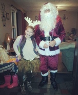 Santa and his Reindeer Homemade Costume