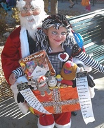 Santa with Box of Toys Homemade Costume