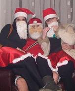 Homemade Santas Group Costume