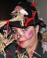 Homemade Scarecrow Costume for Women
