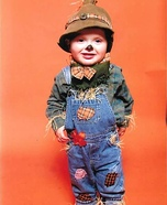 Easy Scarecrow Baby Costume DIY