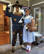 Scarecrow and Dorothy Homemade Costume