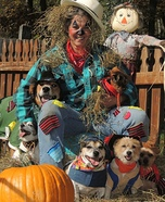 Scarecrow and Furry Friends Homemade Costume