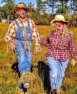 Scarecrow Couple Homemade Costume