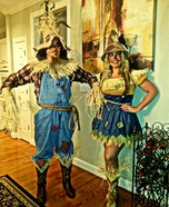 Scarecrows Couple Homemade Costume