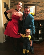 Scarlet, Herb Blurb Overkill and Bob the Minion Homemade Costume