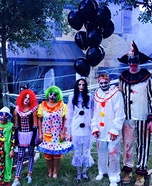 Scary Clown Family Homemade Costume