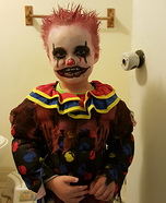 Scary Clown Toddler Homemade Costume