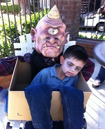 Scary Monster carrying Boy Homemade Costume