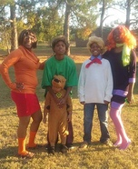 Scooby Doo and the Gang Family Homemade Costume