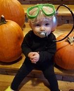 Easy DIY Scuba Diver Baby Costume